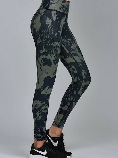 Noli Yoga Gloss Legging Cow Army Green
