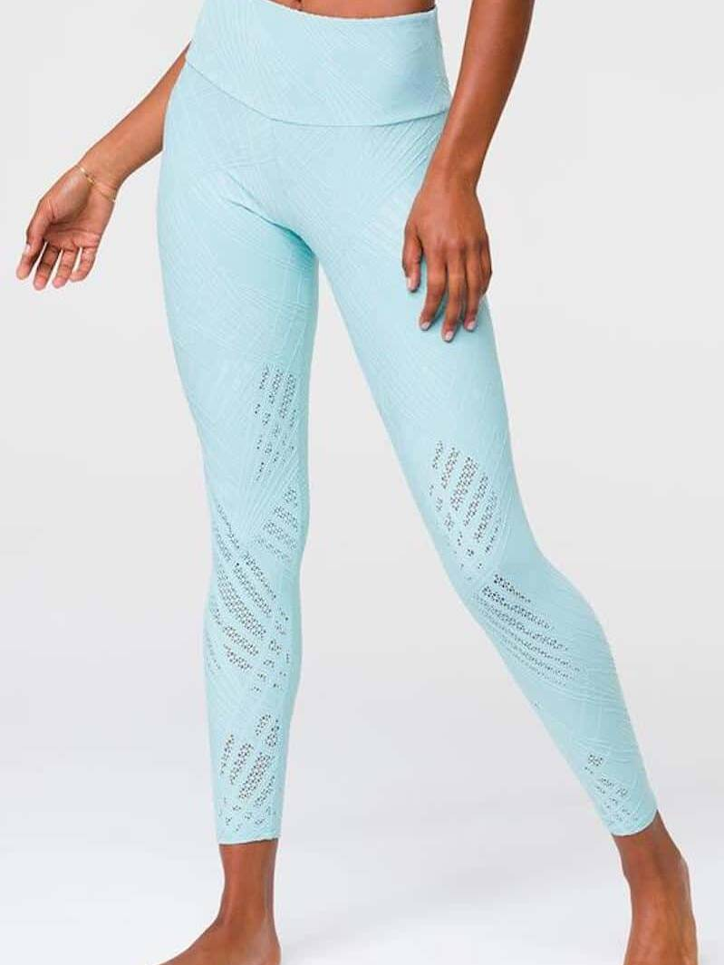 Leggings, Onzie Leggings, blaue Leggings, Onzie Selenite Leggings, Leggings mit Mesh, Yoga Leggings, Fitness, Sportleggings