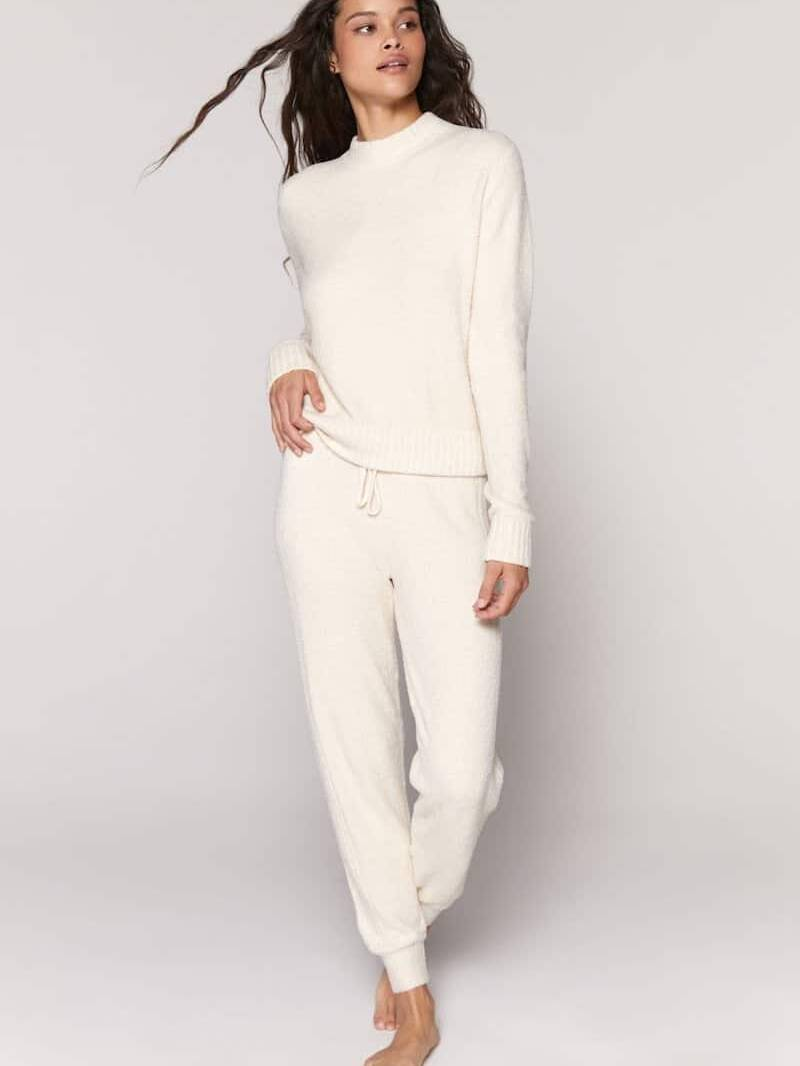 Spiritual Gangster Serenity Knit Jogger Cream Stone