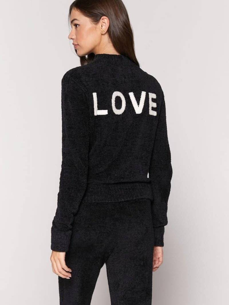 Spiritual Gangster Love Serenity Sweater Vintage Black