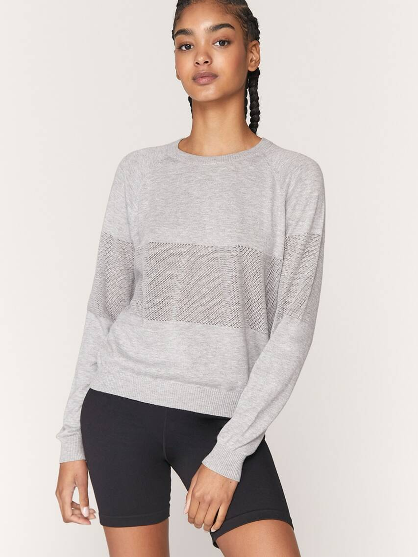 Spiritual Gangster On the Go Coolmax Sweater Heather Grey