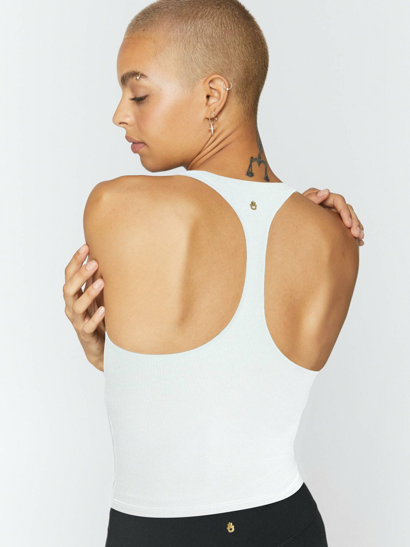 Spiritual Gangster Ribbed Racerback Active White