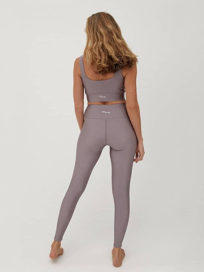Hey Honey Glossy Leggings Taupe