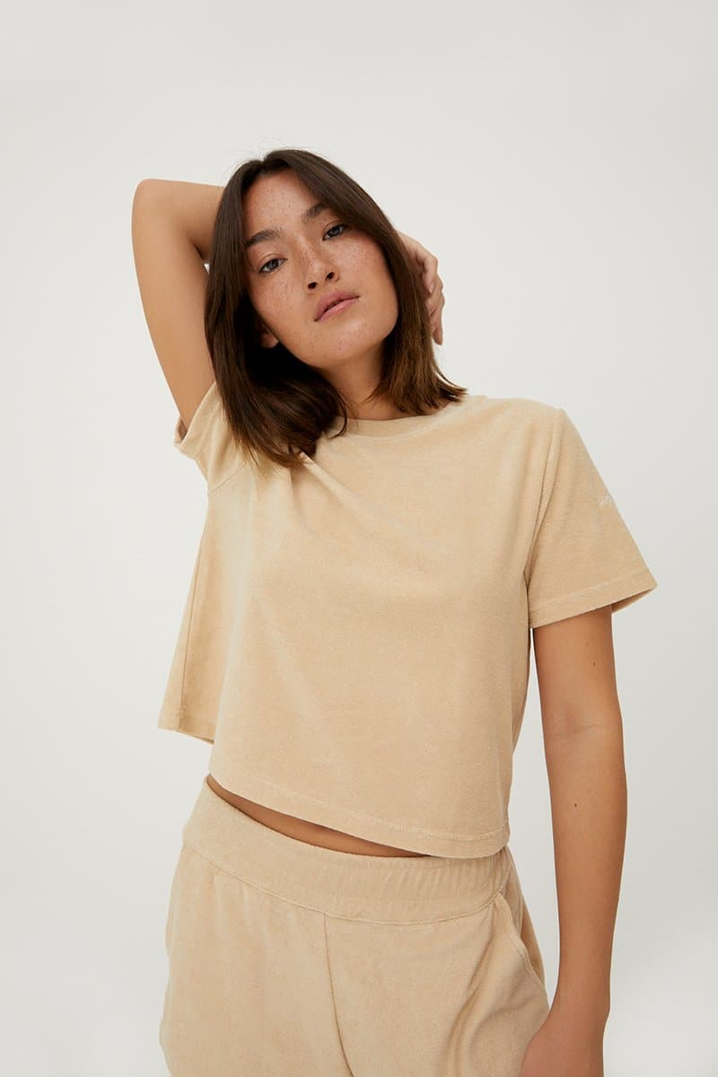 Hey Honey Terry Shirt Beige
