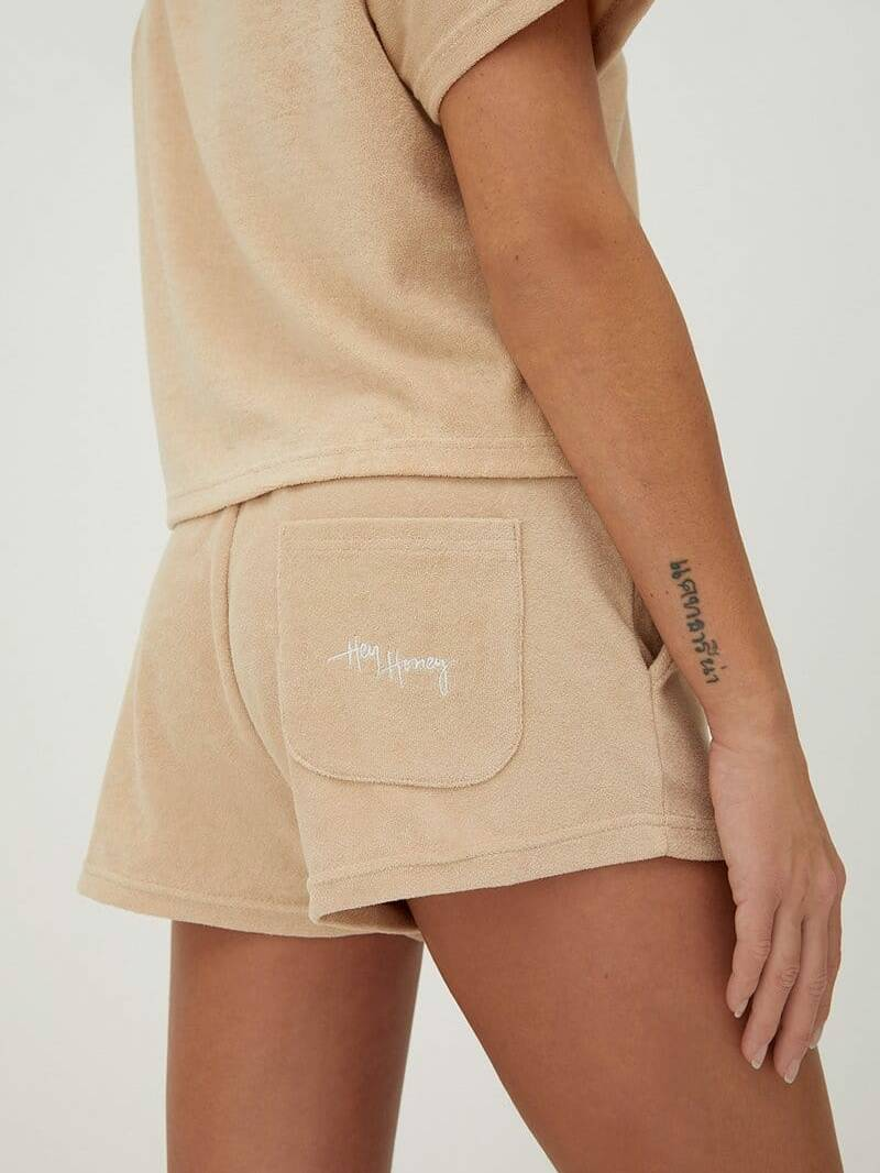 Hey Honey Terry Short Beige