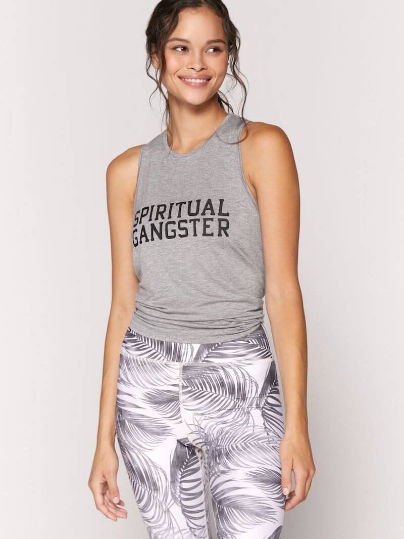 Spiritual Gangster Dream Tie Back Tank