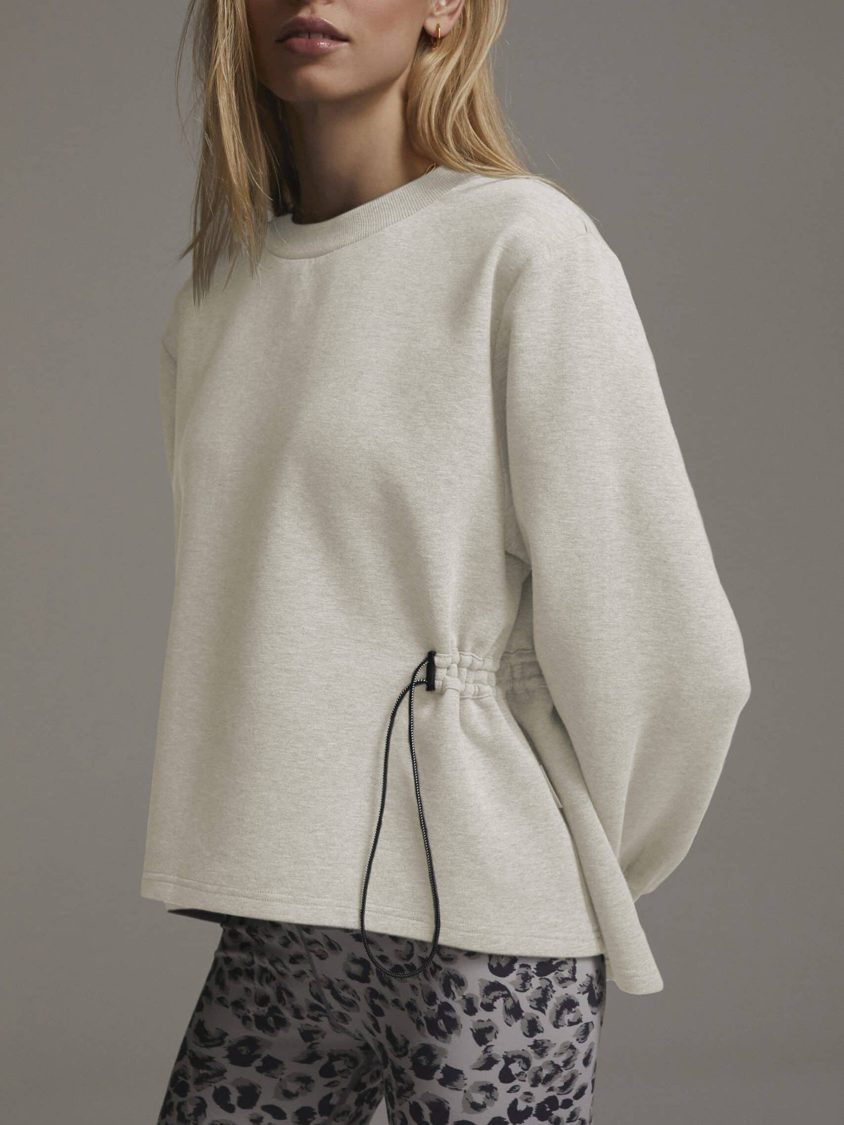 Bella Sweat Ivory Marl, Basic Sweater, Basic Pulli, Heller Sweater, Bella Sweater, oversized Sweater