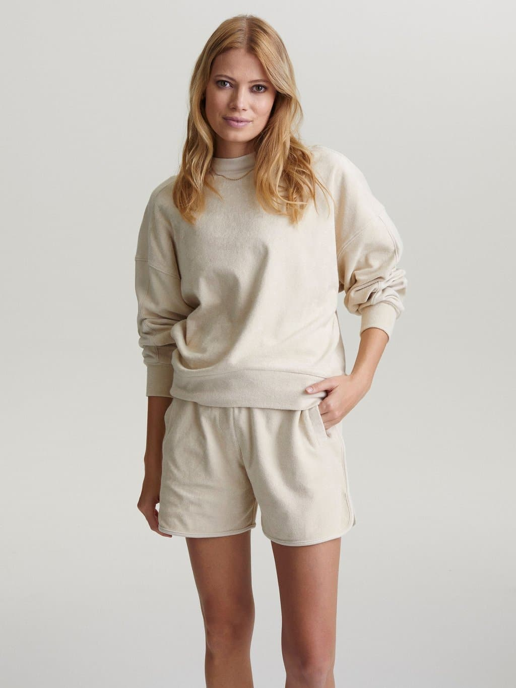 Lyle Top Sandshell, Frottee Sweater, Sommersweater Varley